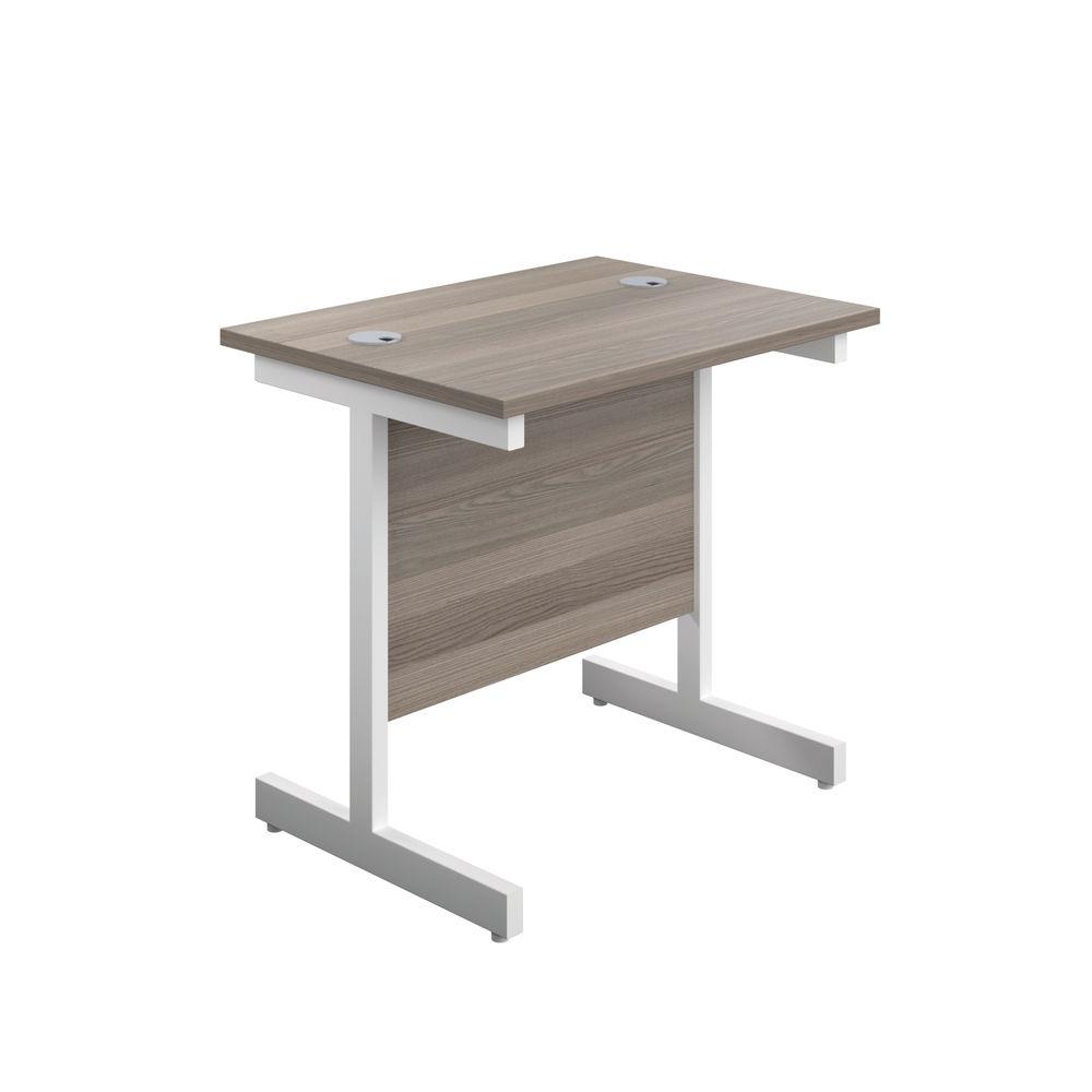 Jemini 800x600mm White/White Single Rectangular Desk