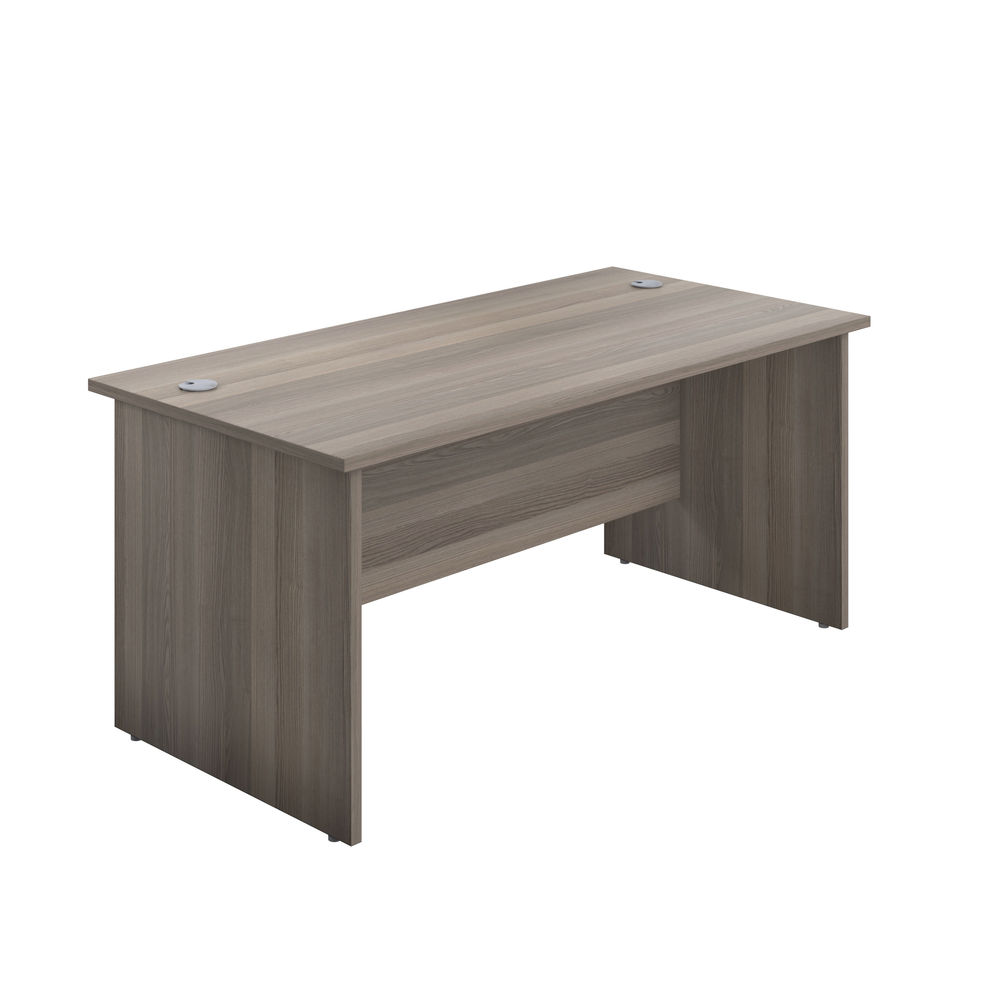 Jemini 1200mm Grey Oak Rectangular Panel End Desk