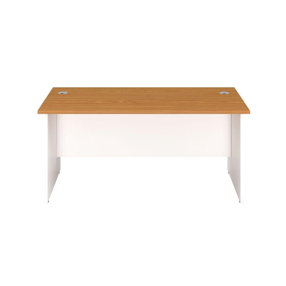 Jemini 1600mm Nova Oak/White Rectangular Panel End Desk