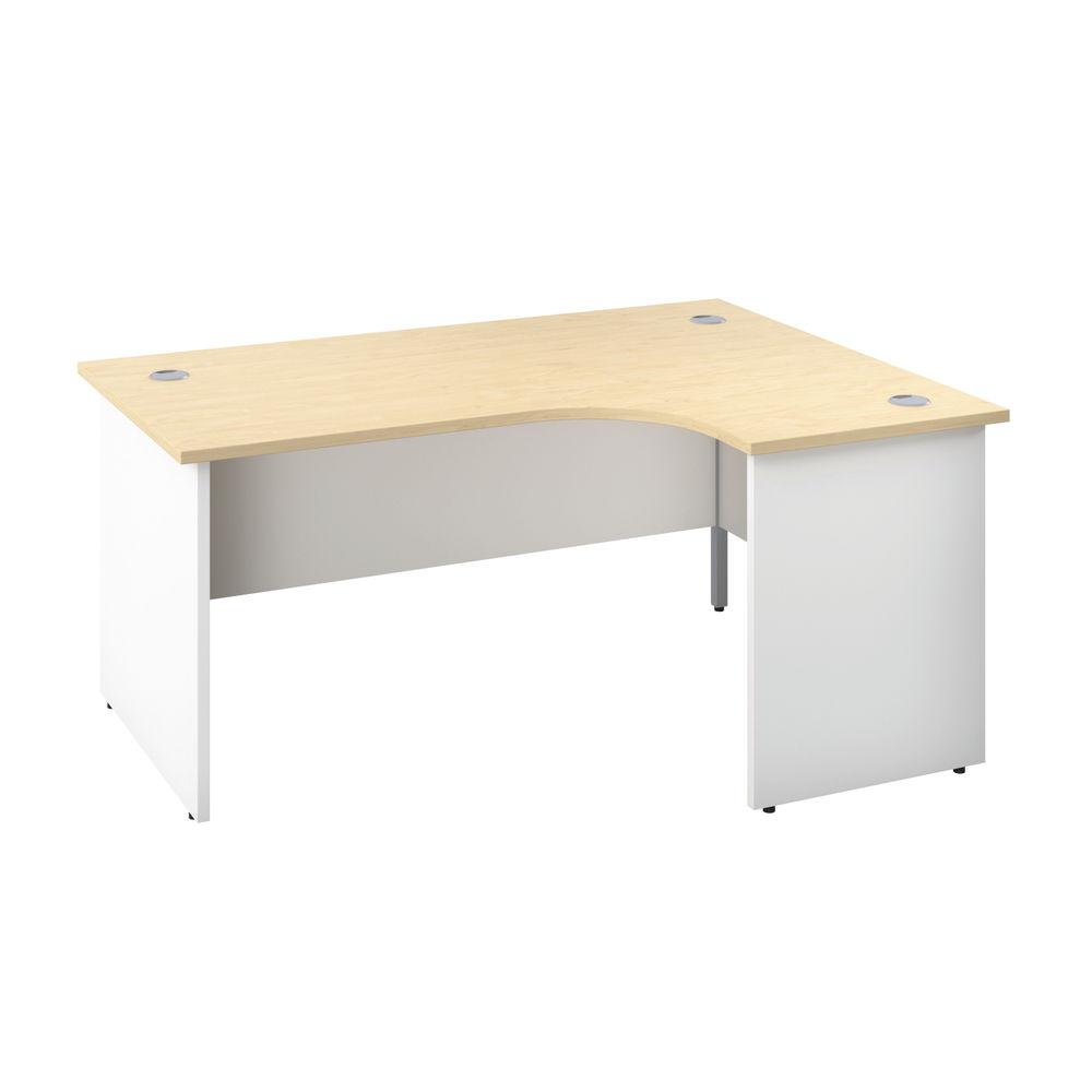 Jemini 1600mm Maple/White Right Hand Radial Panel End Desk
