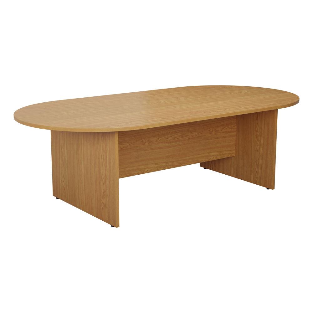 Jemini 1800mm Nova Oak D-End Meeting Table
