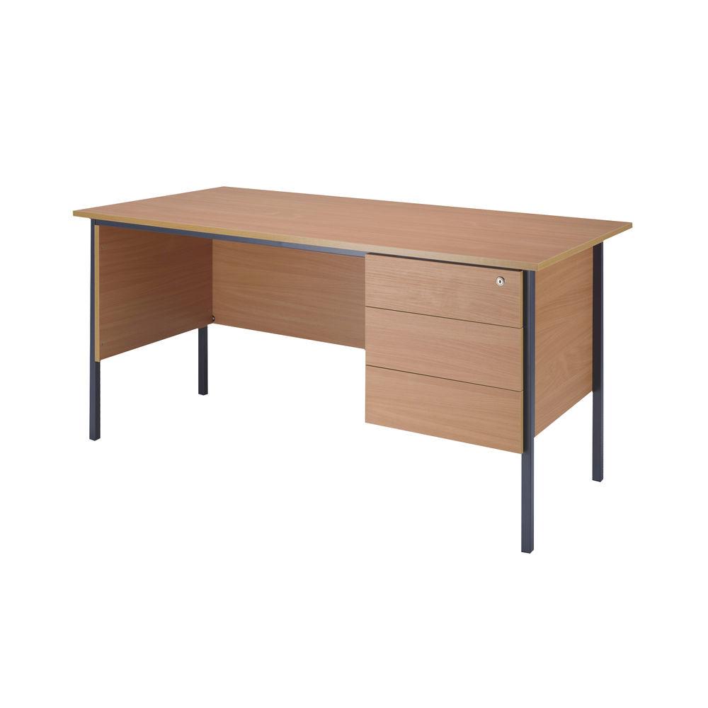 Serrion 1800mm Bavarian Beech 3 Drawer Pedestal 4 Leg Desk