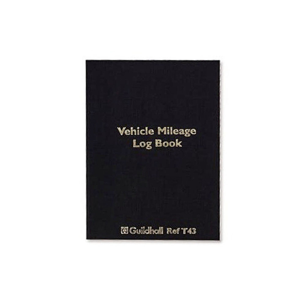 Guildhall Vehicle Mileage Log Book, 60 Pages - T43