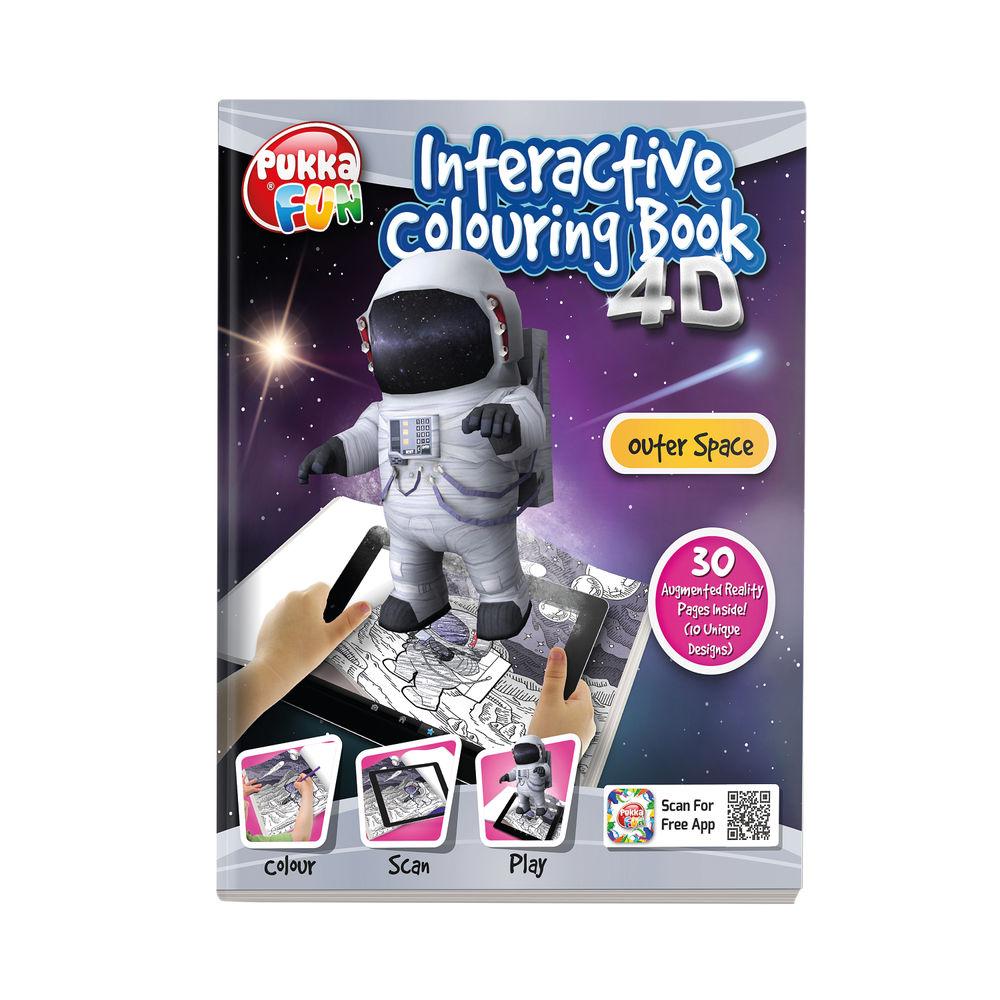 Pukka Fun Interactive Colouring Book 4D Outer Space 8424-FUN