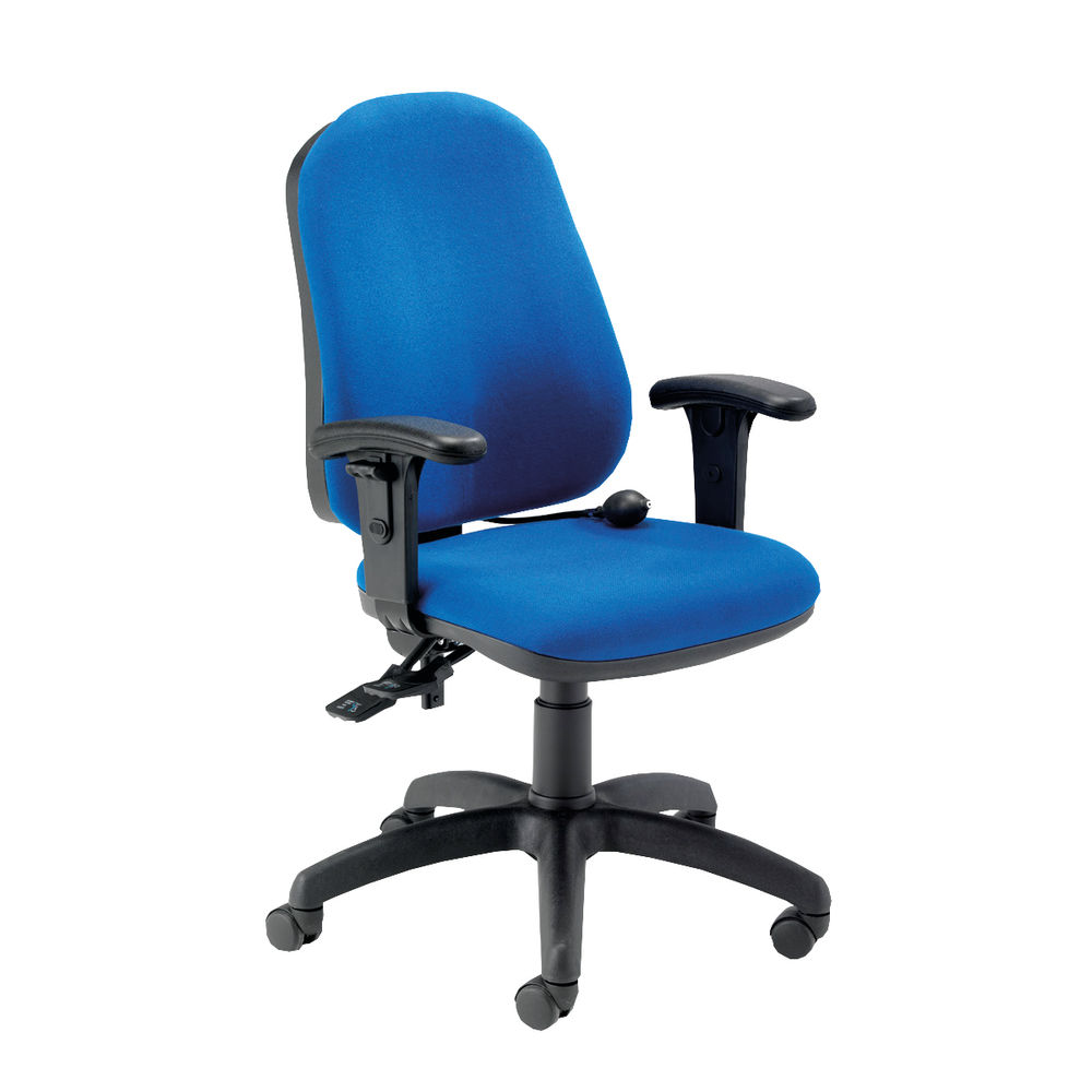 Jemini Intro Blue Posture Office Chair with Arms