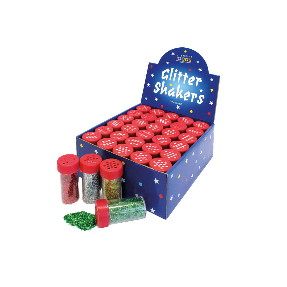 Bright Ideas Assorted Glitter Shakers (Pack of 30) BI0549