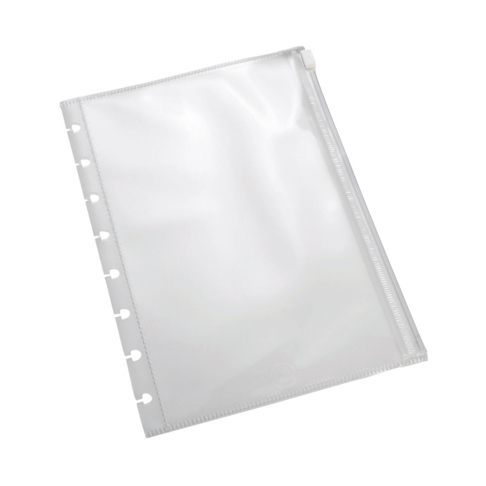 M By Staples ARC Zipped Pocket Dividers A5 Clear (Pack of 2) 8851288