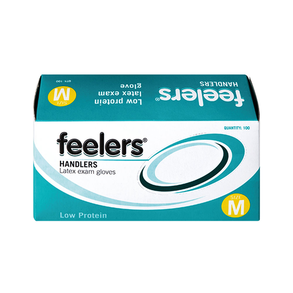 Feelers Medium Handlers Latex Exam Gloves (Pack100) – LETC102