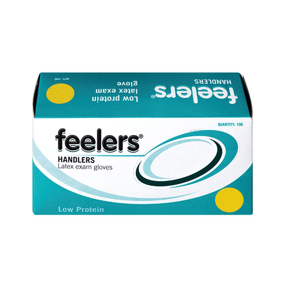 Feelers Handlers Large Latex Exam Gloves (Pack of 100) – LETC103
