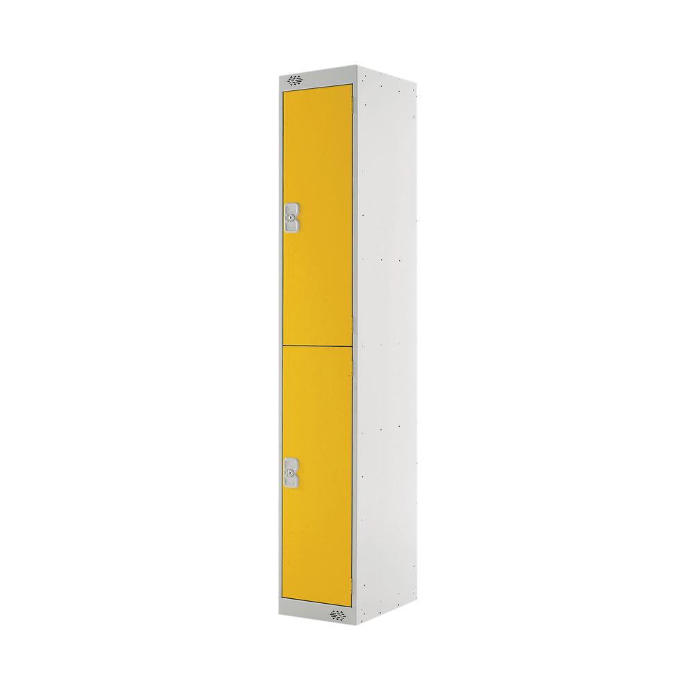 Two Compartment D450mm Yellow Locker - MC00048