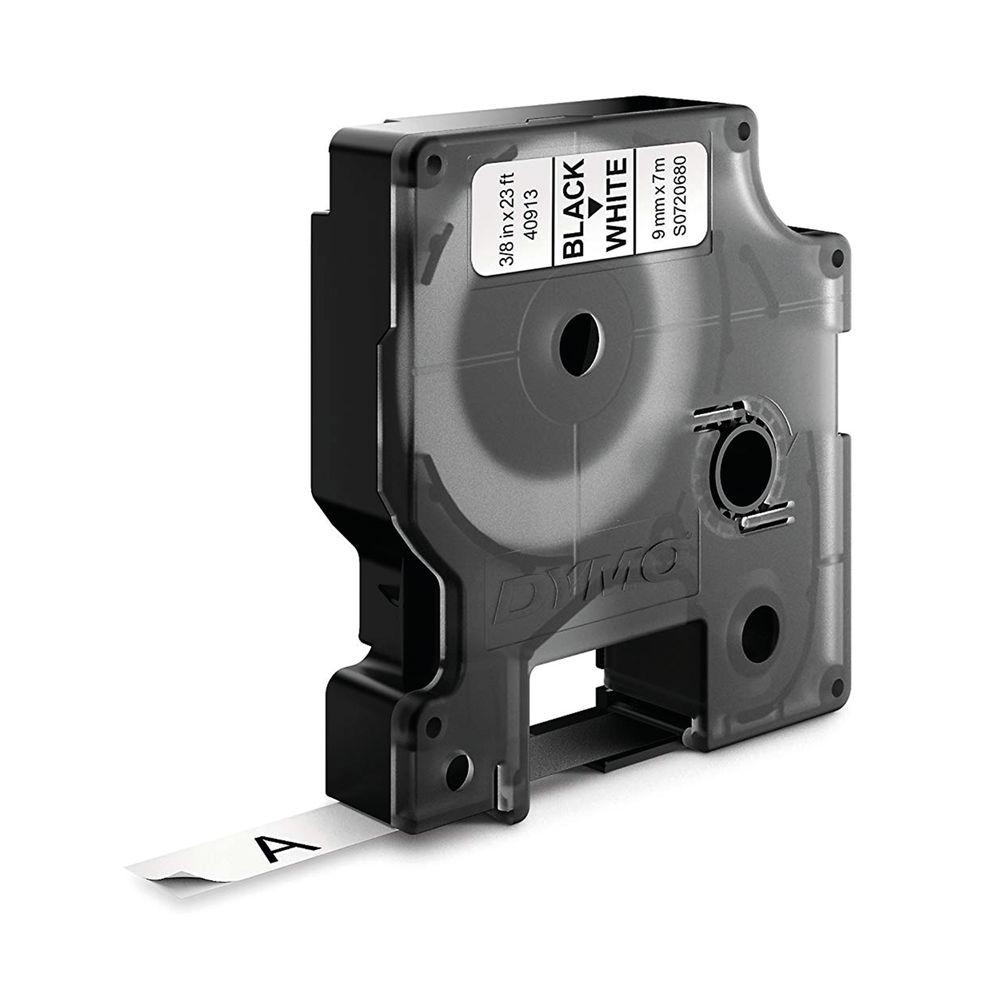 Dymo 40913 D1 LabelMaker Tape 9mm x 7m Black on White S0720680