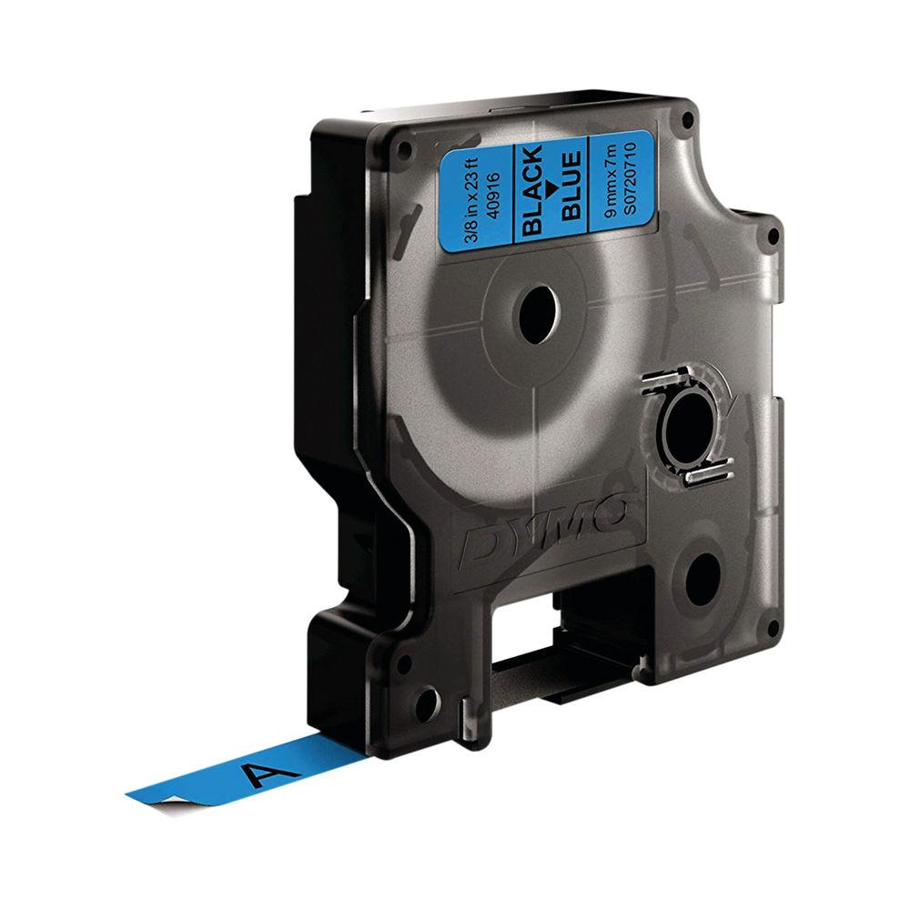 Dymo 40916 D1 LabelMaker Tape 9mm x 7m Black on Blue S0720710