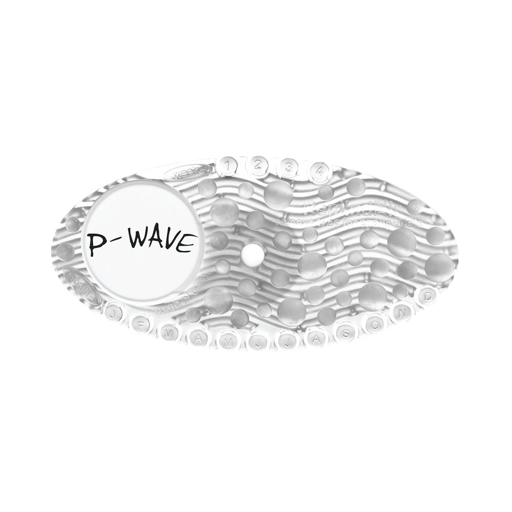 P-Wave Curve Clear Mango Air Freshener, Pack of 10 - WZCV60MG