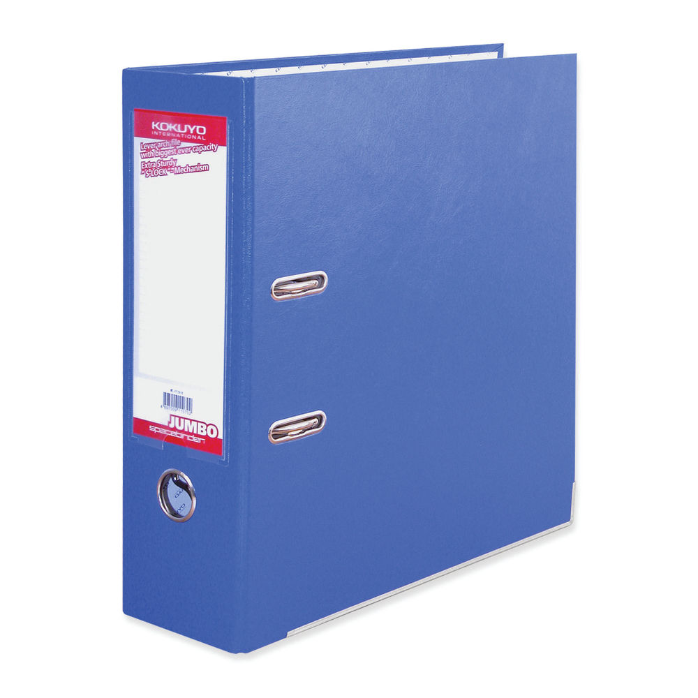 Sterling Blue A4 Kokuyo Space Binder Jumbo Lever Arch File 85mm - FF291B