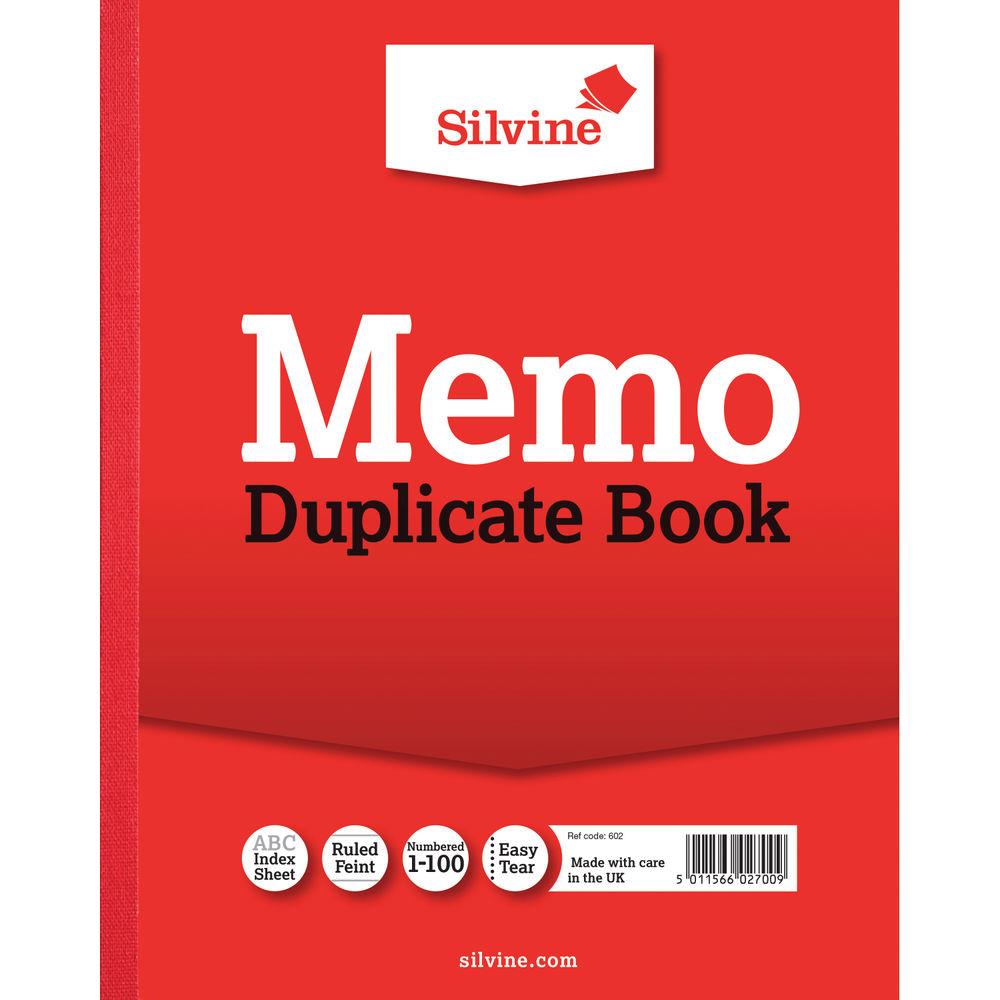 Silvine Carbon Memo Ruled 254 x 203mm Duplicate Book (Pack of 6) - SV42700