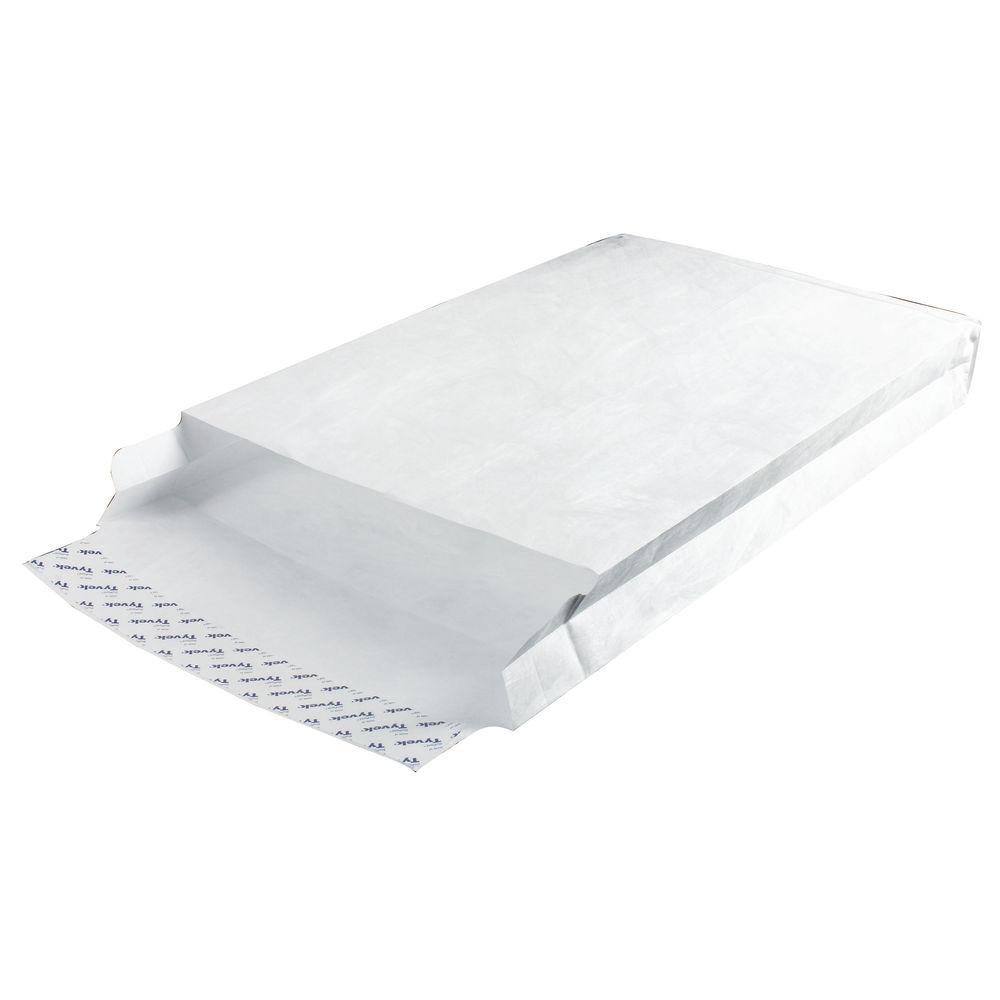 Tyvek Envelope 381x254x50mm Gusset Peel and Seal White (Pack of 100) 757224