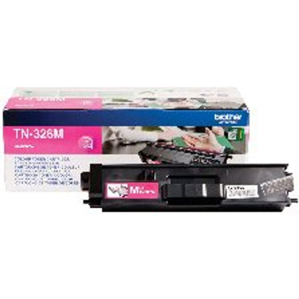 Brother TN-326M Magenta Toner Cartridge - High Capacity TN326M