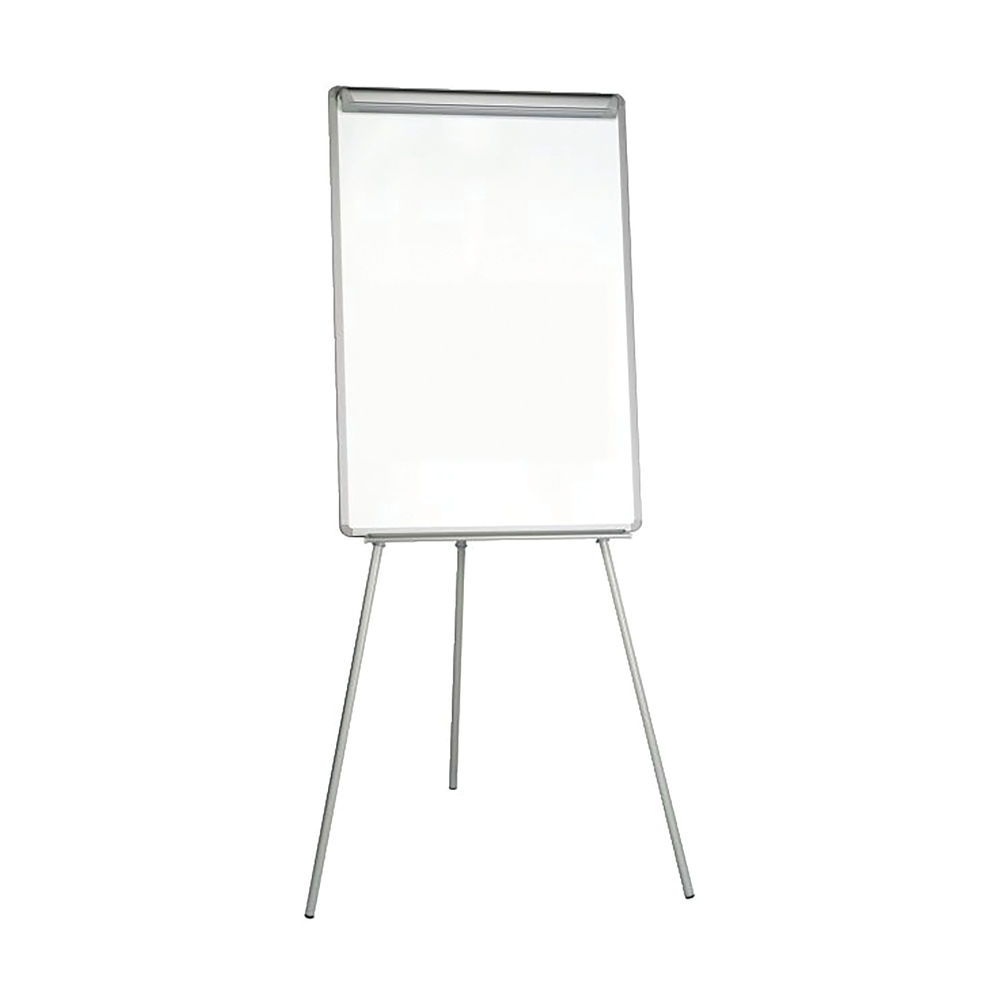 Staples Magnetic Lacquer Surface Dry-Wipe Flipchart Easel Height Adjustable 700x1000mm EA2306315