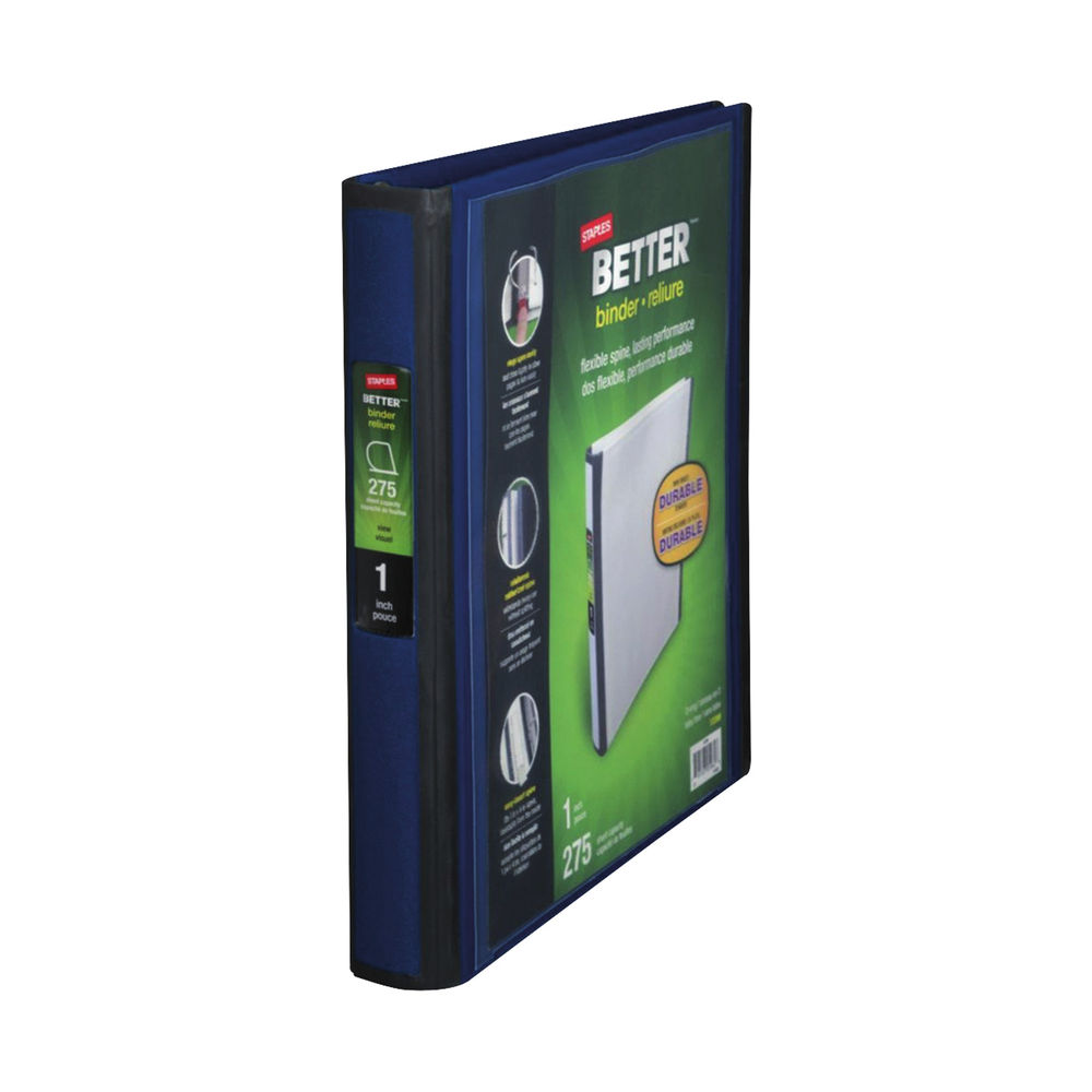 Staples Better 4 Ring Binder A4 275 Sheets Blue 8850924