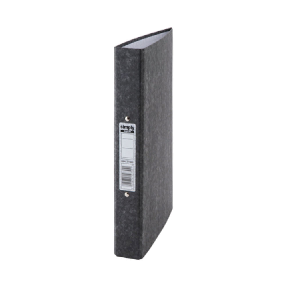 Staples Economy Ring Binder A4 25mm Recycled Black 58945STAP