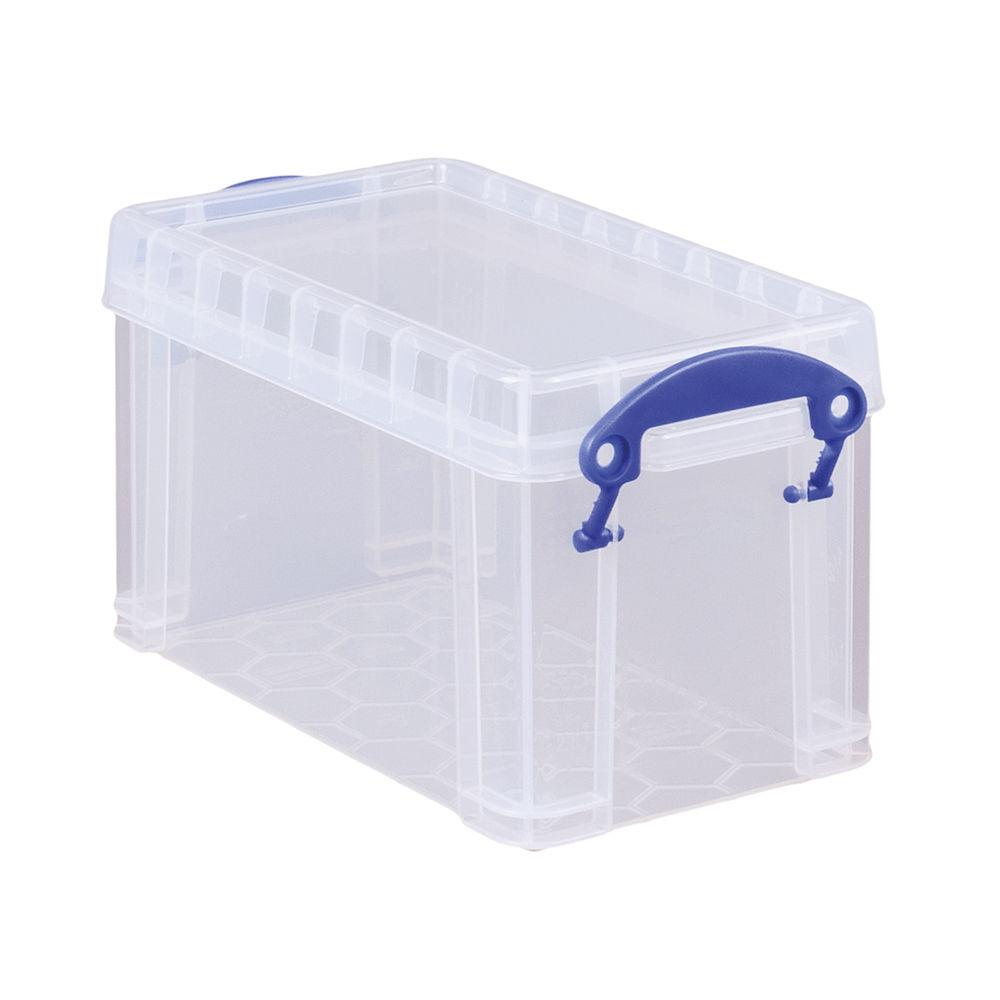 Really Useful 2.1L Plastic Storage Box 240 x 130 x 125mm Clear 2.1C