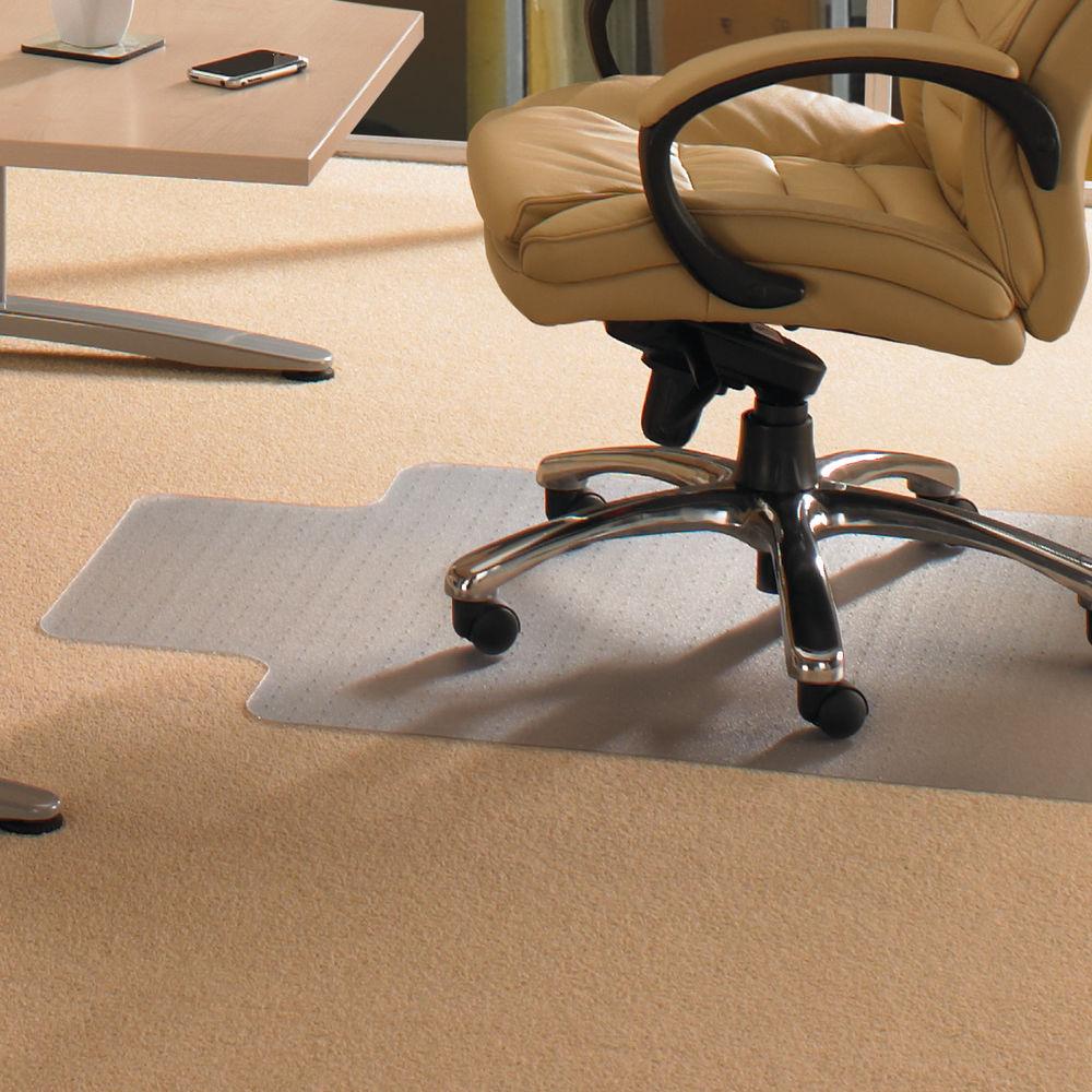 Staples PVC Chair Mat With PVC Lip 1200 x 900mm Clear 7307484