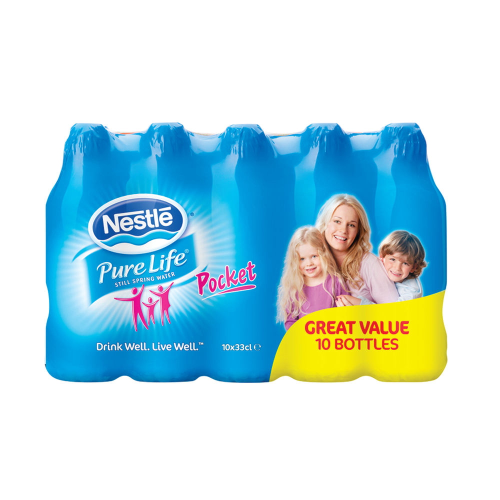 Nestle Pure Life Still Mineral Water 330ml (Pack of 10) 12245192