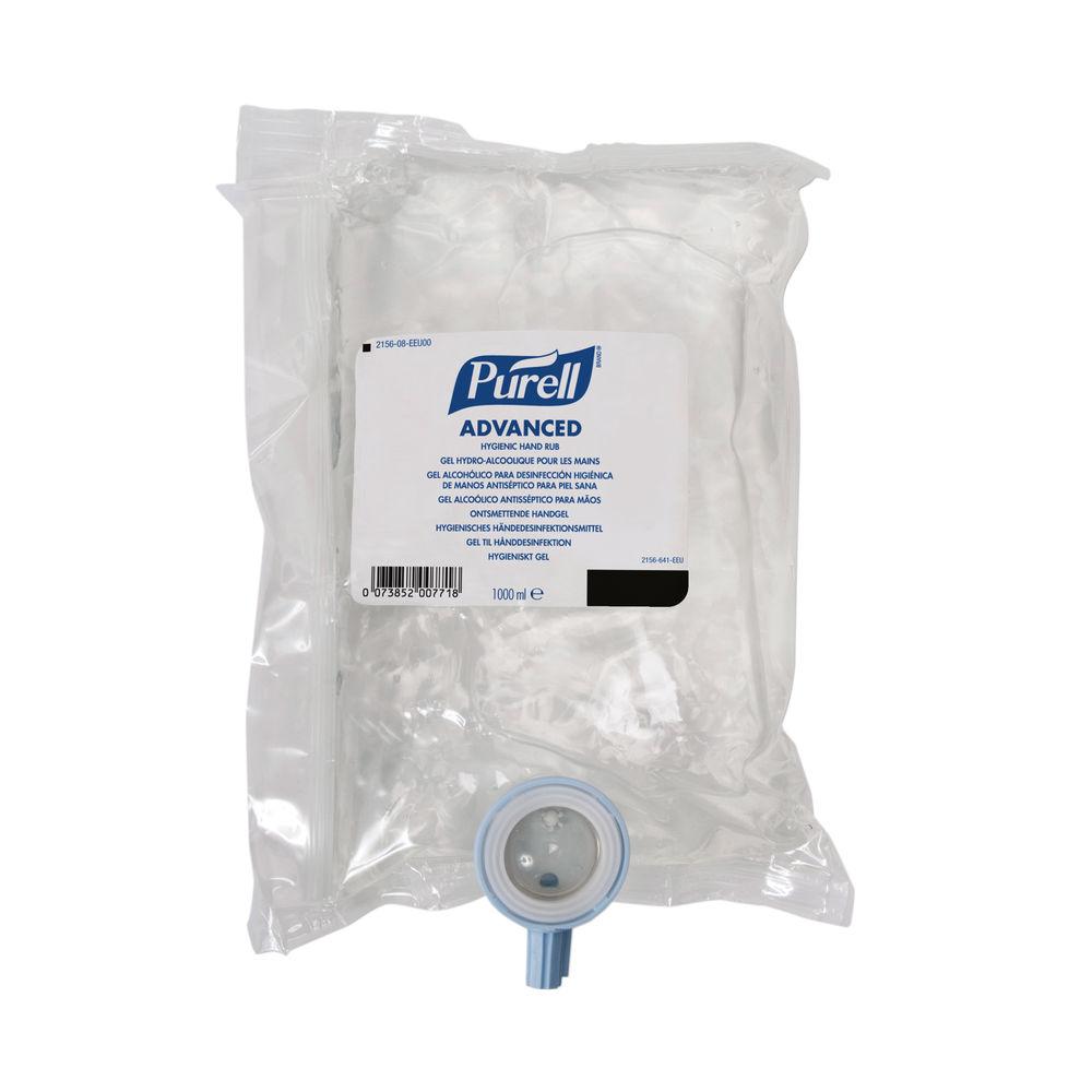 Purell Advanced Hygienic Hand Rub NXT Refill Cartridge 1000ml 2156-08 (Pack of 8)