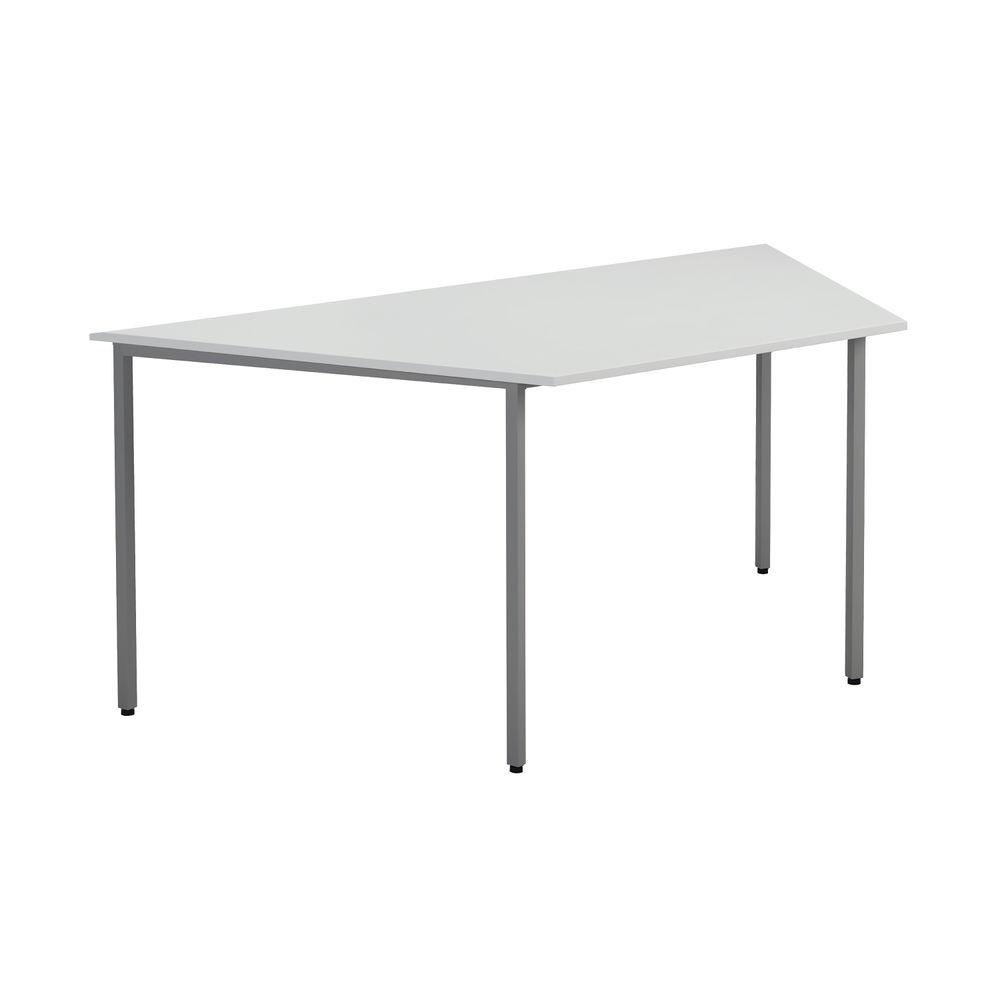 Jemini 1600mm White Trapezoidal Table