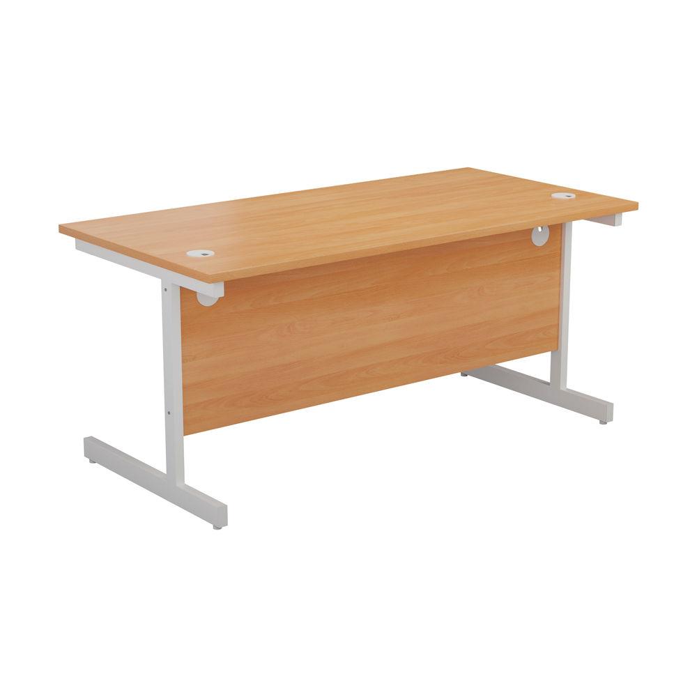Jemini 1200x800mm Beech/White Single Rectangular Desk
