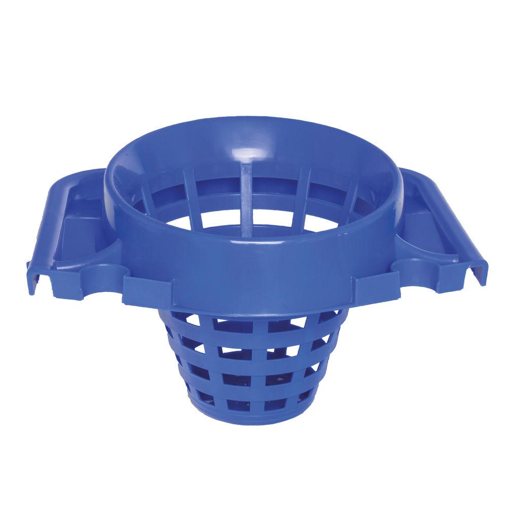 2Work 15 Litre Blue Plastic Mop Bucket with Wringer - 102946