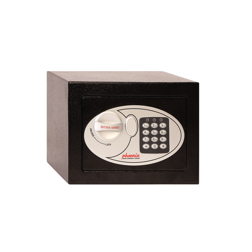 Phoenix Black Compact Size 1 Electric Lock Security Safe - SS0721E