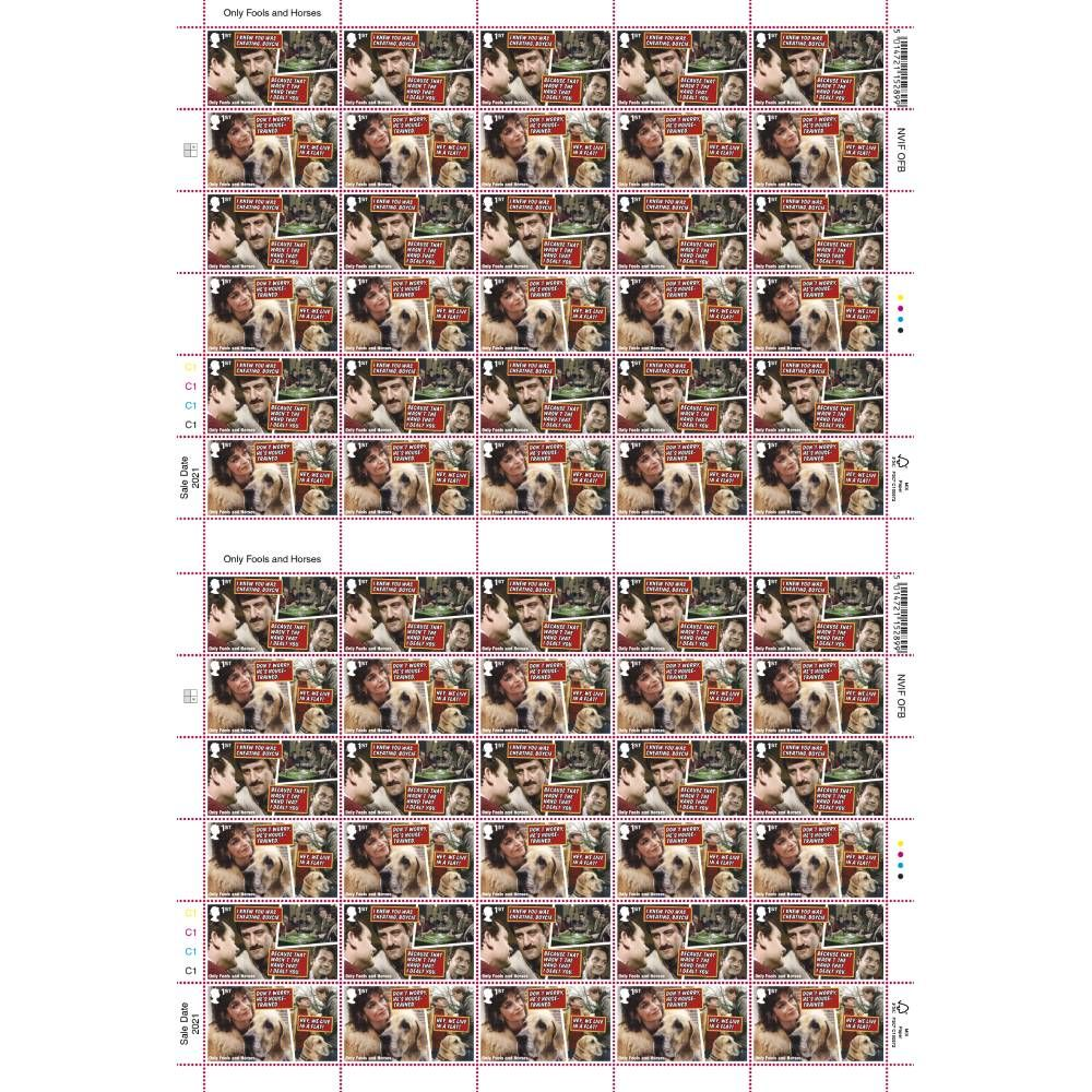 1st Class Stamps x 60 (Postage Stamp Sheet) - Only Fools and Horses B
