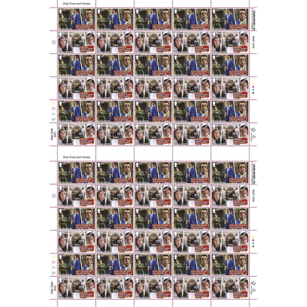Only Fools and Horses First Class Stamps A (Sheet of 60) - AS6800AFS