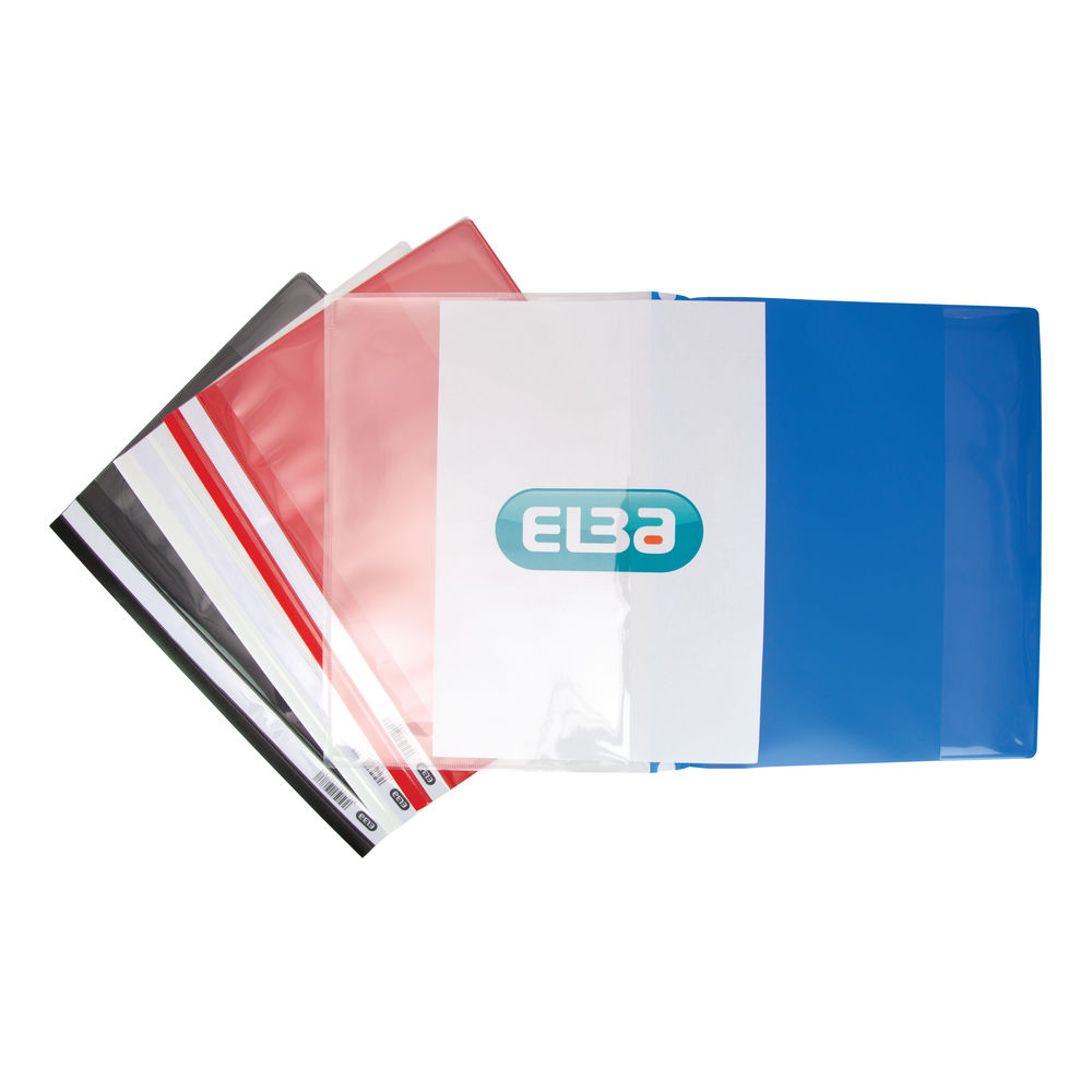 Elba Assorted A4 Pocket Report Files, Pack of 25 - 400055040