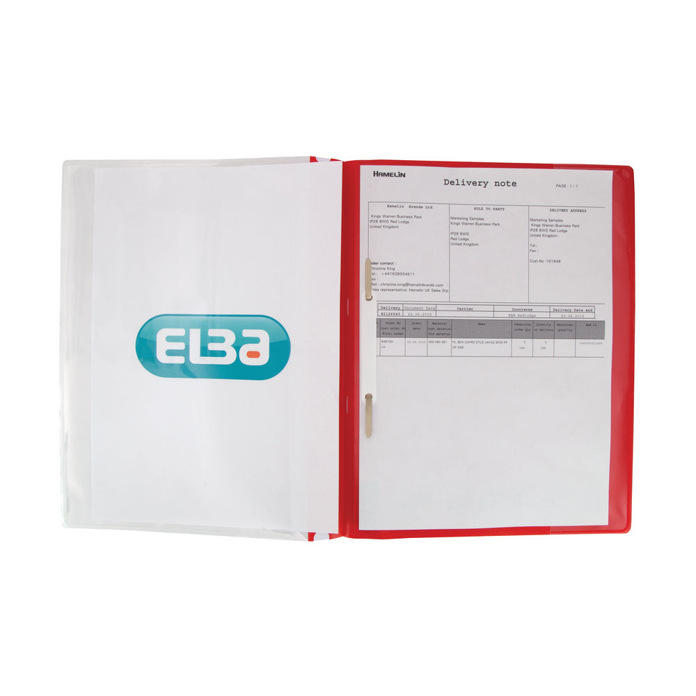 Elba Red A4 Quotation Folders (Pack of 25) - 400055038