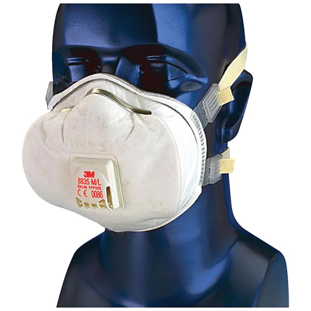 3M FFP3 Face Mask Valved White (Pack of 5) 7100081542