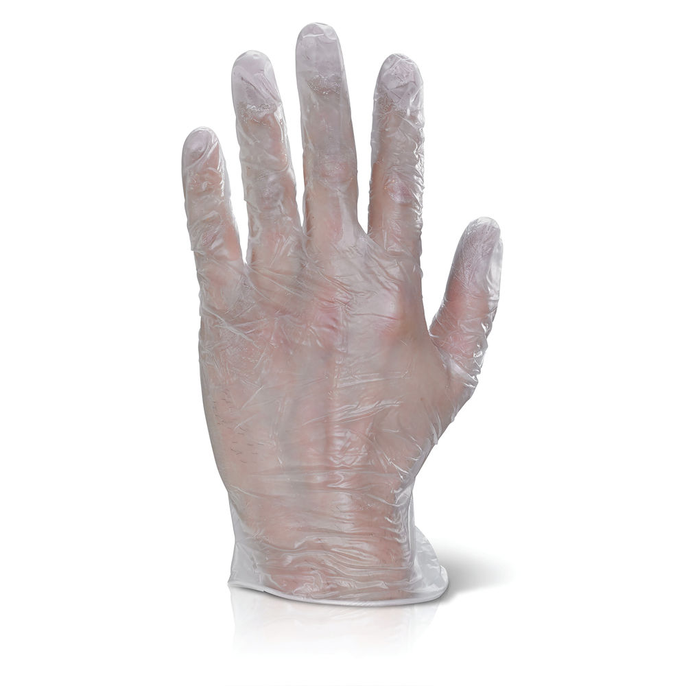 Click PF Vinyl Disposable Gloves Small Clear (Pack of 100) VDGPFS