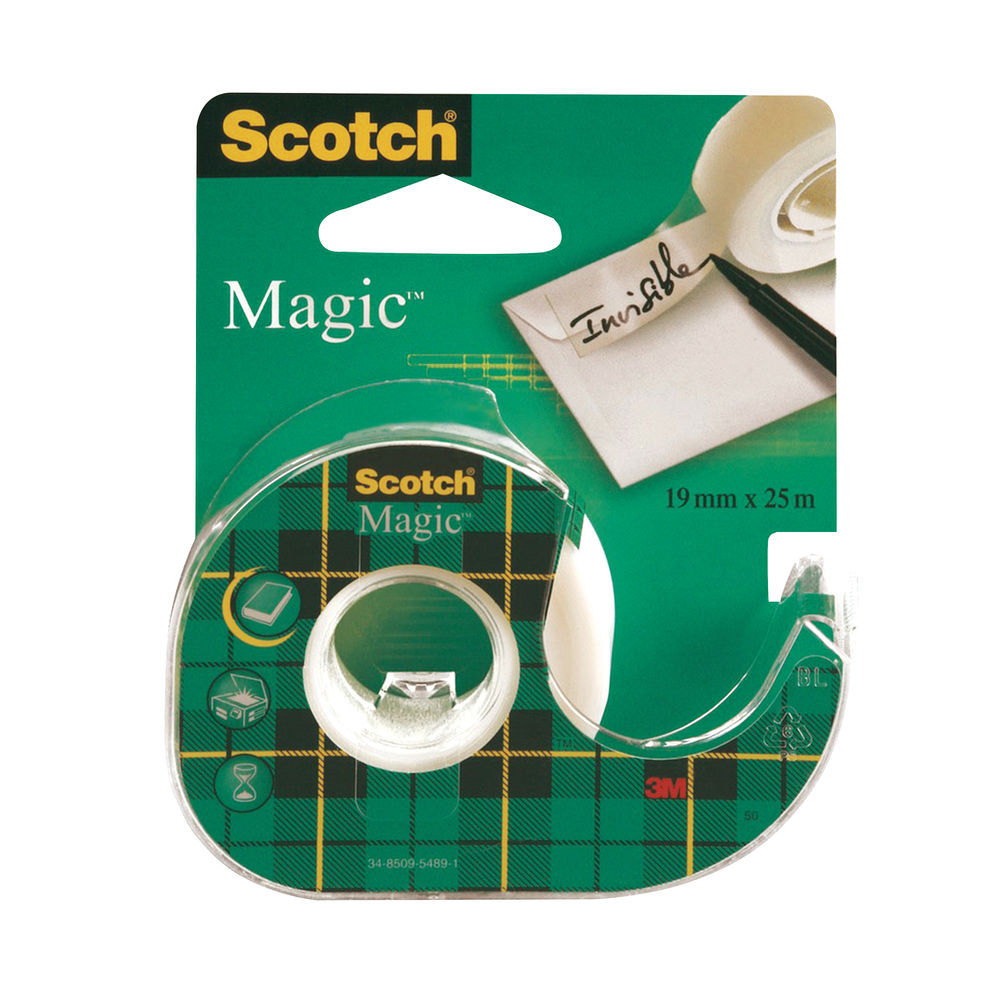Scotch Magic Tape 810 19mm x 25m with Dispenser (Pack of 12) 8-1925D