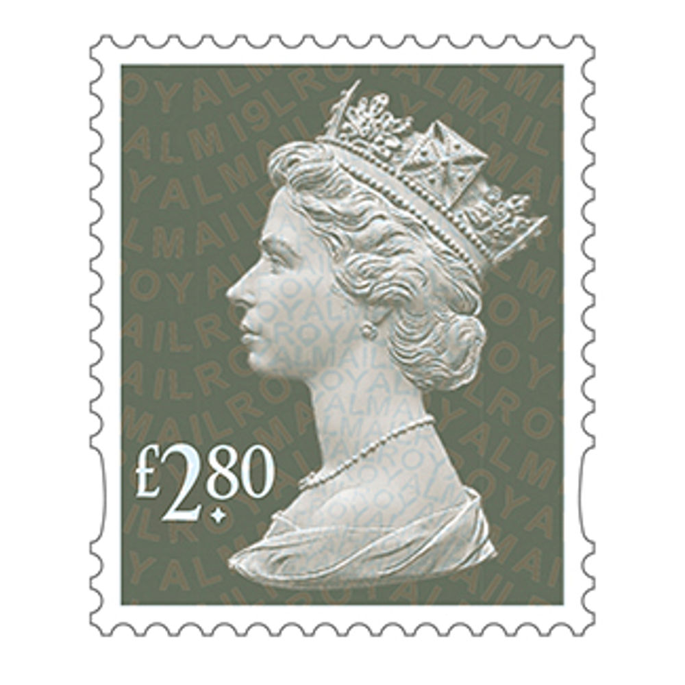 Royal Mail £2.80 Postage Stamps x 25 Pack (Self Adhesive Stamp Sheet)