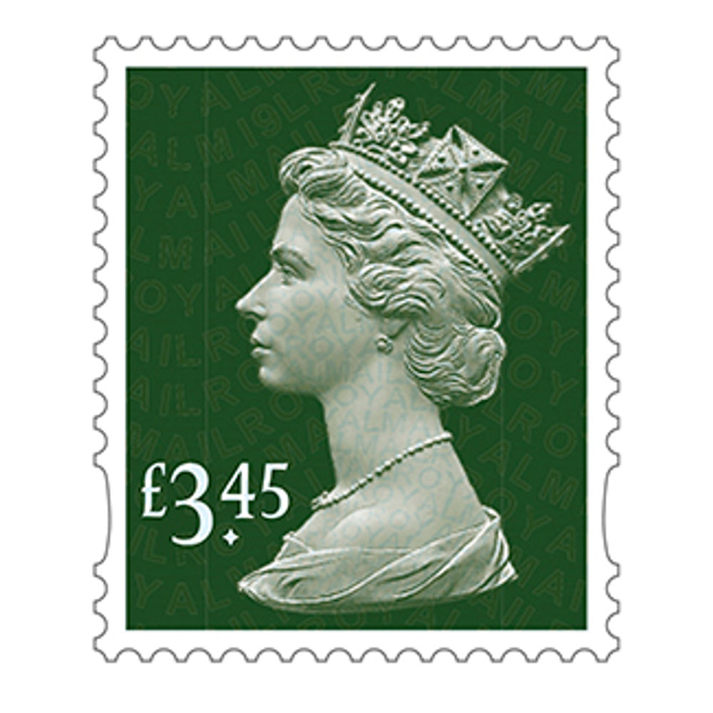 Royal Mail £3.45 Postage Stamps x 25 Pack (Self Adhesive Stamp Sheet)