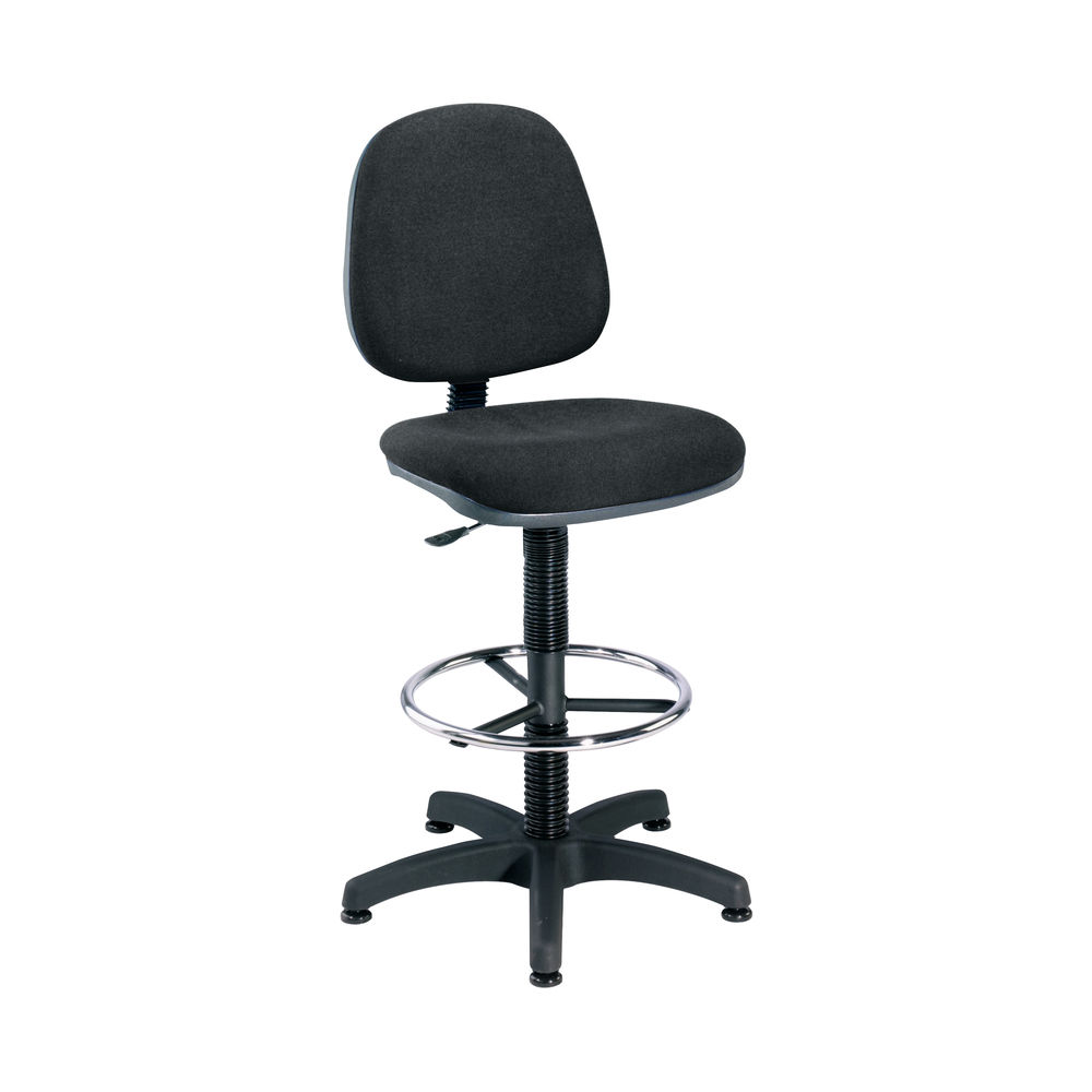 Jemini Charcoal Medium Back Draughtsman Chair