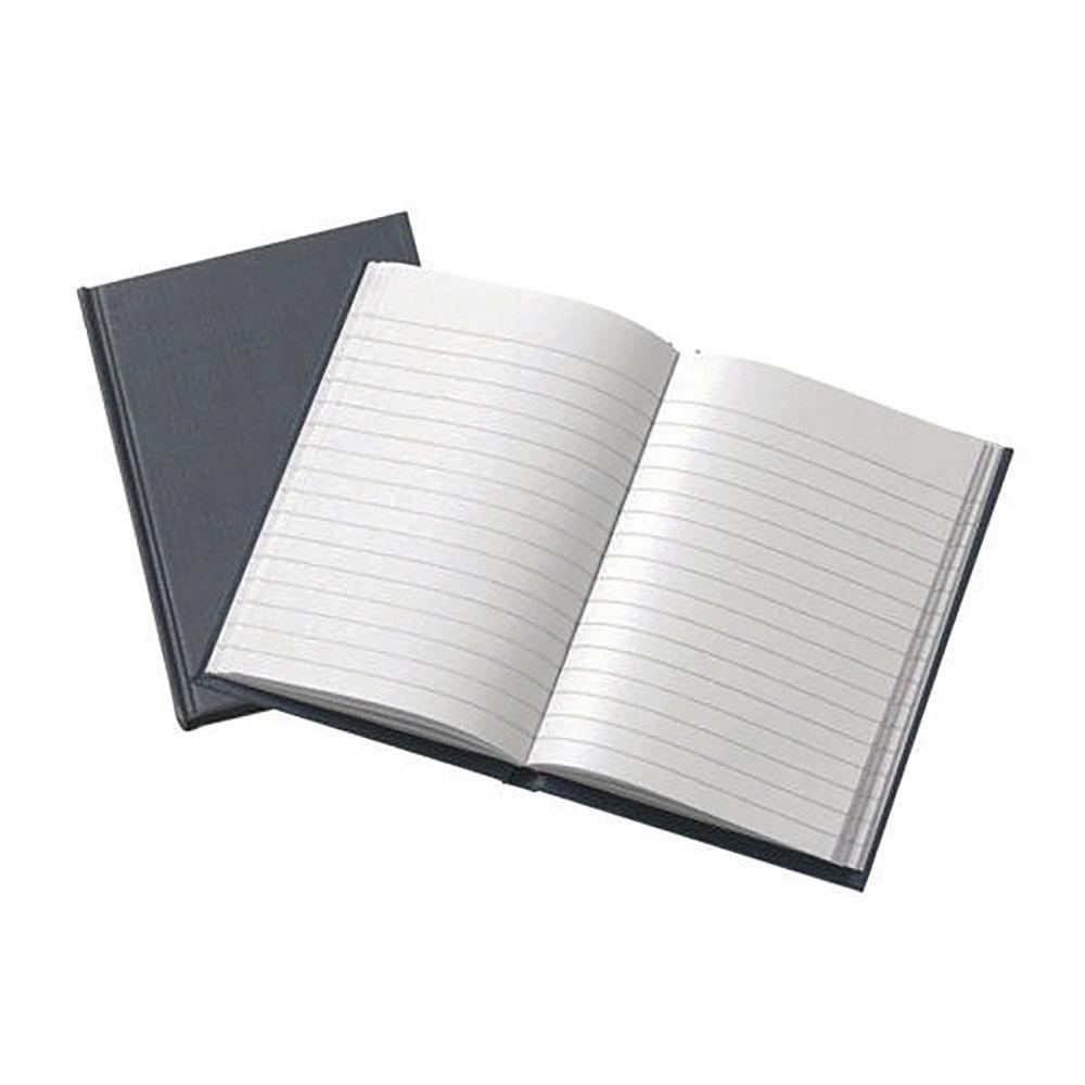 A6 Grey Casebound Notebook – 8280008