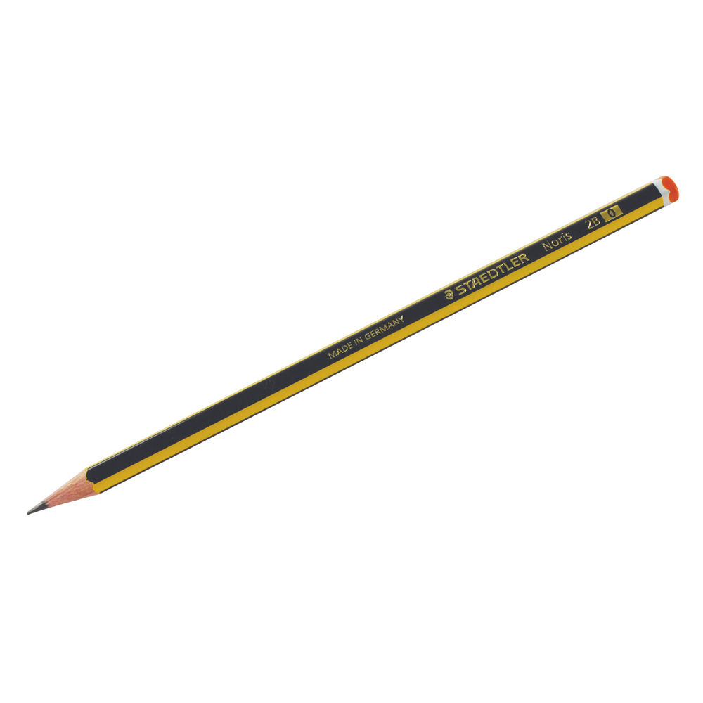 Staedtler Noris 2B Pencil, Pack of 12 - 120-2B