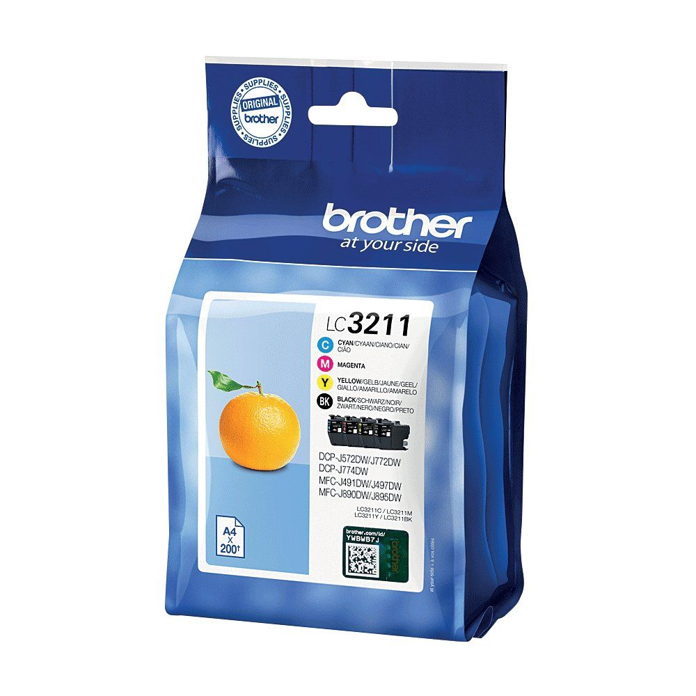 Brother LC3211 Ink Cartridge Multipack - LC3211VAL