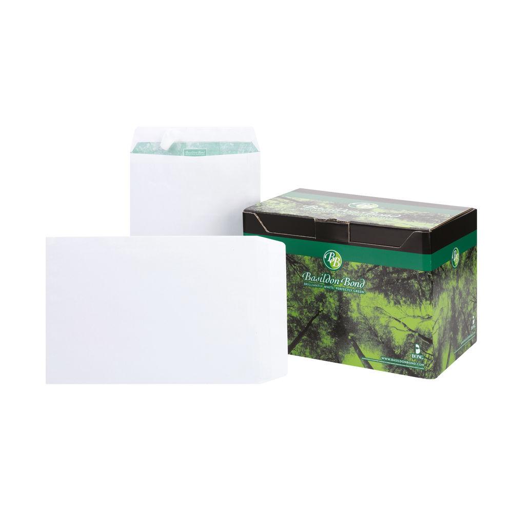 Basildon Bond C4 White Plain Pocket Envelopes, Pack of 250 - M80120