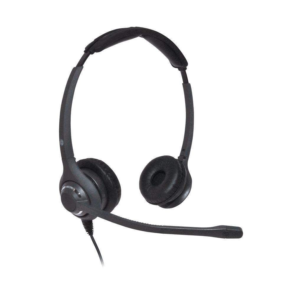 JPL 611PB Professional Binaural Adjustable Headset With PLX Quick Disconnect (QD) Black JPL-611-PB