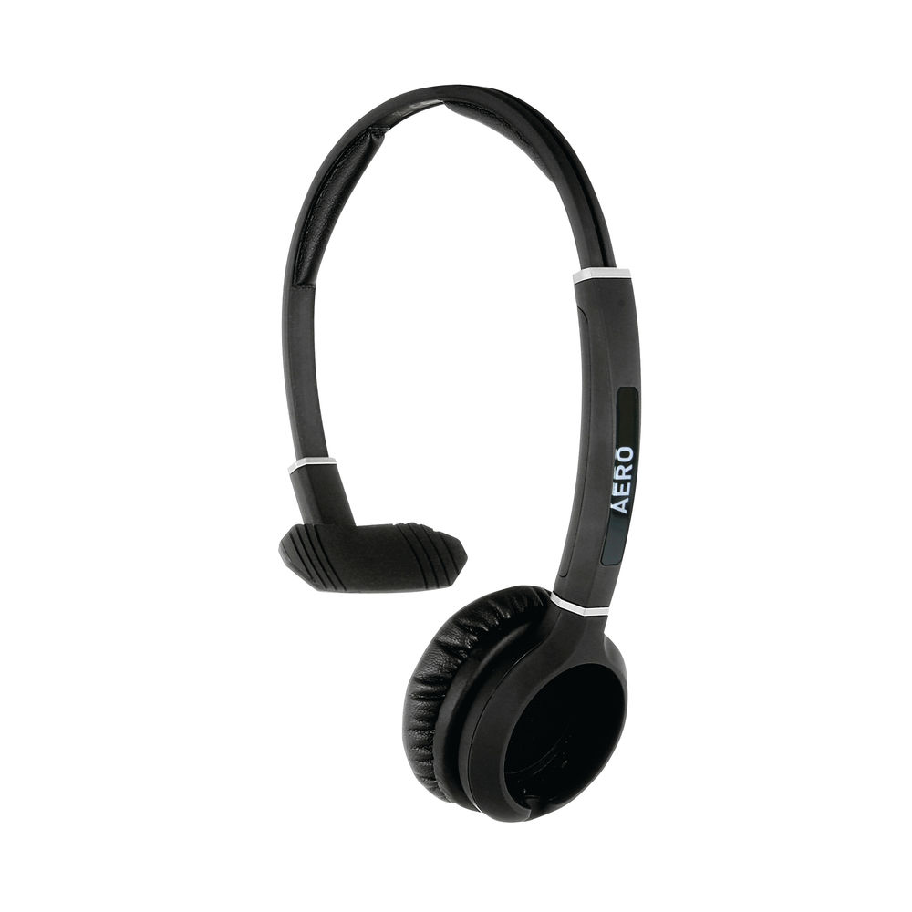 JPL Radius Aero Monaural 2-in-1 Convertible Headset Headband Black VERSOHeadbandMON