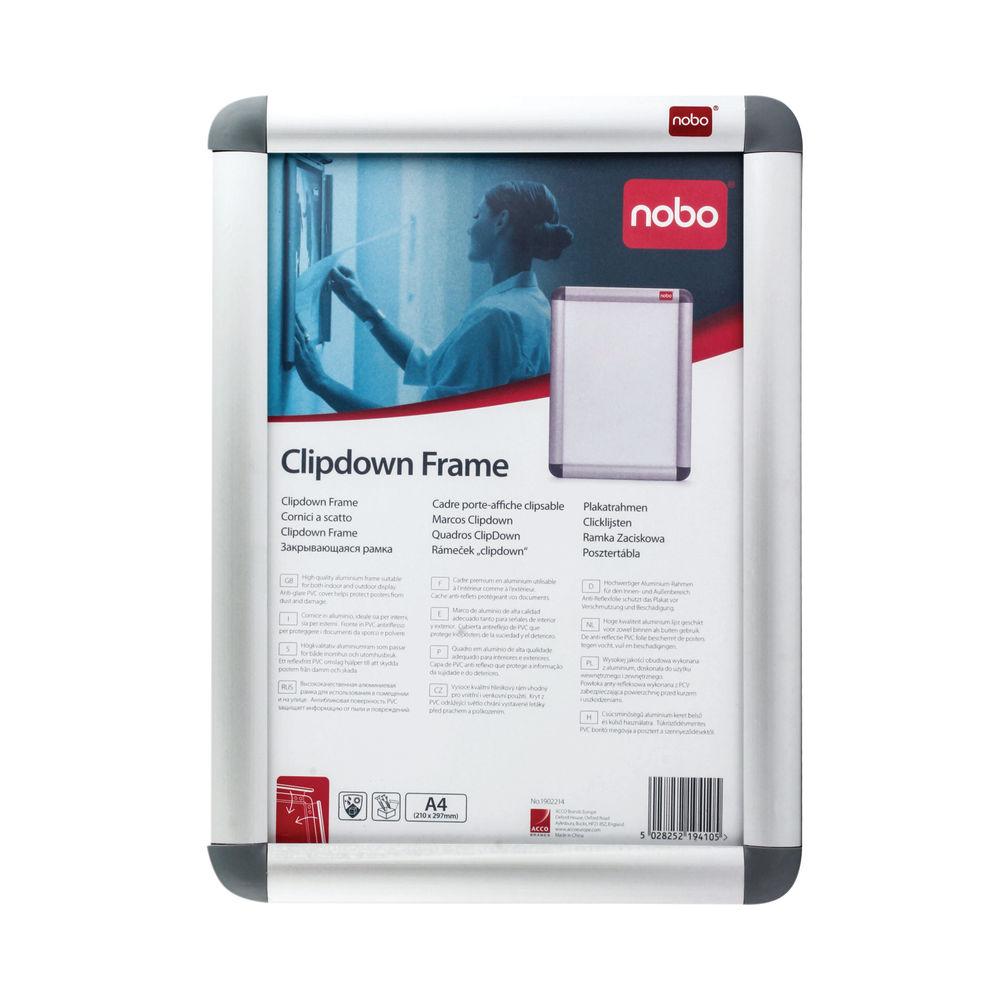 Nobo Silver A4 Clip Frame - 1902214