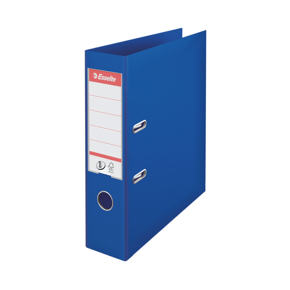 Esselte A4 Blue 75mm Lever Arch Files, Pack of 10 - 811350